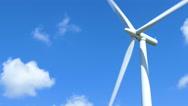 Single wind turbine Stock Footage