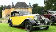 Bentley 3.5 L Parkward sports saloon 1934 vintage classic car Stock Footage