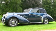 Delahaye 135 MS classic convertible car Stock Footage