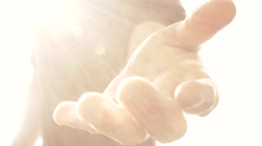 Heavenly Hand Come With Me Stock Footage