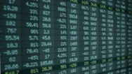 Stock Market - Financial  Numbers - Digital Led - Screen - blue -Left Stock Footage