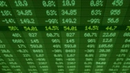 Stock Market - Financial  Numbers - Digital Led - Screen - dark green - Above Stock Footage