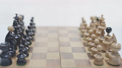 Chess board with camera moving. Original perspective. Stock Footage