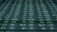 Stock Market - Financial  Numbers - Digital Led - Screen - blue - Below Stock Footage