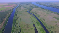 Beautiful aerial over river Stock Footage