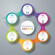 Infographic design with colored Stock Illustration