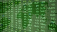 Stock Market - Financial  Numbers - Digital Led - Neon Map - green  - right Stock Footage