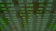Stock Market - Financial  Numbers - Digital Led - Neon Word - dark green - Ab Stock Footage