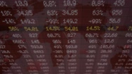 Stock Market - Financial  Numbers - Digital Led - Neon Word - dark red - Abov Stock Footage