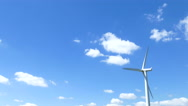Single wind turbine time lapse Stock Footage