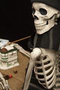 Artistic Halloween Skeleton Painting Statuary Kuvituskuvat