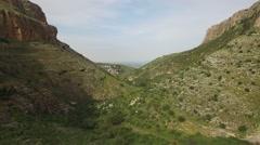 Mount Arbel - Nahal Arbel  (Israel,  aerial footage) Stock Footage