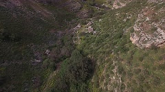 Nahal Arbel - Hamam overview from the stream (Israel, aerial view) Stock Footage