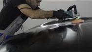 Polished black car Stock Footage