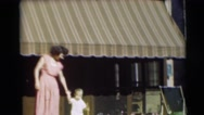 1954: mommy allows her baby to walk free PENNINGTON, NEW JERSEY Stock Footage
