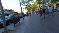 Time Lapse Barcelona at Street Level Stock Footage