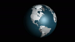 3D geopolitical Earth folding and spinning Stock Footage