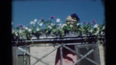 1954: a garden is seen PENNINGTON, NEW JERSEY Stock Footage