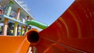 Fun slope in waterpark Stock Footage