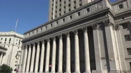 The United States District Court, 500 Pearl Street, Manhattan, New York. Stock Footage