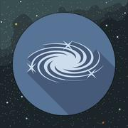 Digital vector milky way galaxy icon with stars Stock Illustration