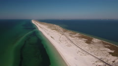 White Sandy Beaches along a barrier island Stock Footage