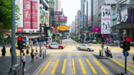Riding a bus in Hong Kong during the day. Time-lapse, hyperlapse Stock Footage