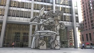 The Group of Four Trees by Jean Dubuffet in Manhattan, New York. Stock Footage