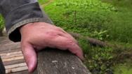 Man bridge while touching Stock Footage