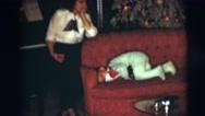 1954: family celebrating christmas PENNINGTON, NEW JERSEY Stock Footage