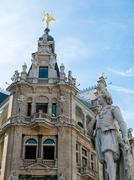 Buildings along Meir Street Antwerp Stock Photos
