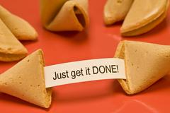 Just Get It Done Fortune Cookie Stock Photos