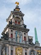 Deatil of Town Hall, Antwerp Stock Photos