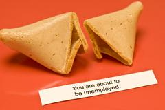 Unemployed Fortune Cookie Stock Photos