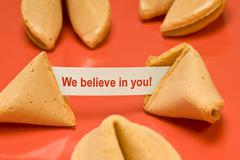 We Believe In You Fortune Cookie Stock Photos