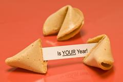 Your Year Fortune Cookie Blank Stock Photos