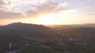 Sunrise on islands in Phang Nga gulf Stock Footage