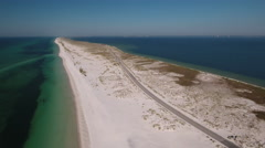 White Sandy Beaches along northwest Florida Stock Footage
