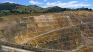 The Martha open-cast Gold Mine in Waihi, New Zealand Stock Footage