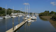 Town basin and Marina on Hetea River, Whangarei, Northland, New Zealand Stock Footage