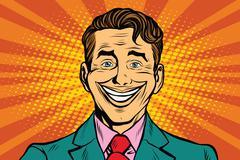 Big fake smile Stock Illustration