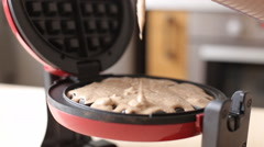 Video of Making a waffle from start to end Stock Footage