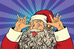 Santa Claus tease, good sense of humor Stock Illustration