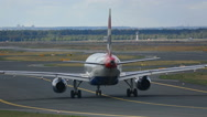 Airbus 320 taxiing Stock Footage