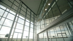 4K Interior view of large modern office building, no people Stock Footage