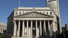 The New York City Supreme Court, 60 Centre Street, Manhattan, New York. Stock Footage