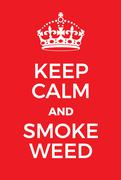 Keep Calm and Smoke Weed poster Stock Illustration