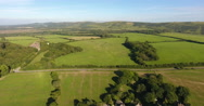 English countryside aerial view Stock Footage