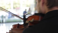 ODESSA, UKRAINE, June (2014) Violinist plays during the opening ceremony Stock Footage