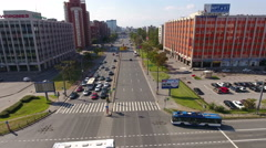 The Lenin Avenue is in Moscow district of city St. Petersburg, Russia Stock Footage
